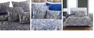 Cottonloft Valentina 4-Piece Flowers and Doodles Microfiber Comforter Set