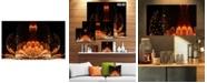 "Design Art Designart Bright Orange Glossy Fractal Flower Wall Art Canvas - 32"" X 16"""