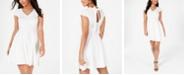B Darlin Juniors' Bow-Back Fit & Flare Dress