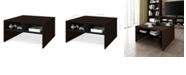 """Bestar Small Space 29.5"""" Storage Coffee Table"""