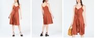 Bar III Ruffle-Front A-Line Dress, Created for Macy's
