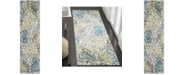 """Safavieh Watercolor Ivory and Peacock Blue 2'2"""" x 8' Runner Area Rug"""