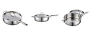 "Cooks Standard 5 Quart 11"" Classic Stainless Steel Deep Saute Pan with Lid"