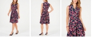 Charter Club Petite Belted Floral-Print Dress, Created for Macy's