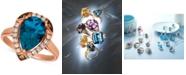 Le Vian Ocean Blue Topaz (3-1/10 ct. t.w.) & Diamond (1/3 ct. t.w.) Statement Ring in 14k Rose Gold