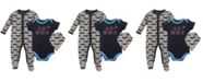 Baby Vision Luvable Friends Sleep and Play, Bodysuits and Bandana Bibs, 3-Piece Set, 0-9Months