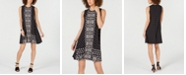 Style & Co Sleeveless Printed Swing Dress, Created for Macy's