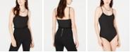 Material Girl Juniors' Rib-Knit Spaghetti-Strap Bodysuit, Created for Macy's