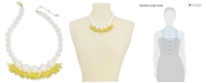 "kate spade new york  Gold-Tone Glass Bead Statement Necklace, 16"" + 1 "" extender"