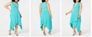 Love Squared Trendy Plus Size Handkerchief-Hem Maxi Dress