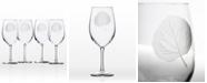 Rolf Glass Aspen Leaf All Purpose Wine 18Oz - Set Of 4 Glasses