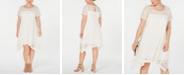 Robbie Bee Plus Size Lace Trapeze Dress