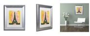 "Trademark Global Dean Russo 'Eiffel ALI' Matted Framed Art - 14"" x 11"" x 0.5"""