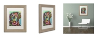 """Trademark Global Dean Russo '19' Matted Framed Art - 14"""" x 11"""" x 0.5"""""""