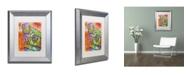 """Trademark Global Dean Russo 'Monkey 1' Matted Framed Art - 14"""" x 11"""" x 0.5"""""""