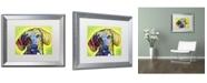 "Trademark Global Dean Russo 'Dachshund' Matted Framed Art - 20"" x 16"" x 0.5"""