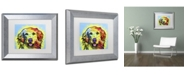 """Trademark Global Dean Russo 'Golden Retriever' Matted Framed Art - 14"""" x 11"""" x 0.5"""""""