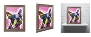 """Trademark Global Dean Russo 'Boston Terrier' Ornate Framed Art - 20"""" x 16"""" x 0.5"""""""