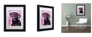"Trademark Global Dean Russo 'Black Lab' Matted Framed Art - 11"" x 14"" x 0.5"""