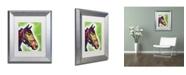 """Trademark Global Dean Russo 'Horse II' Matted Framed Art - 14"""" x 11"""" x 0.5"""""""