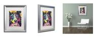 """Trademark Global Dean Russo 'Sheltie' Matted Framed Art - 20"""" x 16"""" x 0.5"""""""