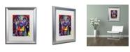 """Trademark Global Dean Russo 'Basset II' Matted Framed Art - 20"""" x 16"""" x 0.5"""""""