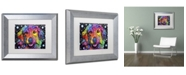 """Trademark Global Dean Russo 'Golden Retriever II' Matted Framed Art - 14"""" x 11"""" x 0.5"""""""