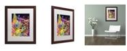 """Trademark Global Dean Russo 'Puff' Matted Framed Art - 20"""" x 16"""" x 0.5"""""""