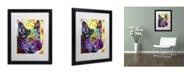 """Trademark Global Dean Russo 'Aus Cattle Dog' Matted Framed Art - 16"""" x 20"""" x 0.5"""""""