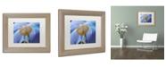 "Trademark Global Cora Niele 'Blue Poppy' Matted Framed Art - 14"" x 11"" x 0.5"""