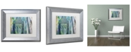 "Trademark Global Cora Niele 'Buddha with Bamboo' Matted Framed Art - 14"" x 11"" x 0.5"""