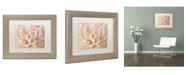 "Trademark Global Cora Niele 'Vintage Tulip' Matted Framed Art - 14"" x 11"" x 0.5"""