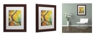 """Trademark Global Cora Niele 'Orange Drops' Matted Framed Art - 14"""" x 11"""" x 0.5"""""""