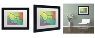 """Trademark Global Cora Niele 'Stained Glass I' Matted Framed Art - 11"""" x 14"""" x 0.5"""""""