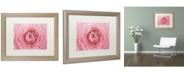 """Trademark Global Cora Niele 'Pink Persian Buttercup Flower' Matted Framed Art - 20"""" x 16"""" x 0.5"""""""