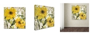 "Trademark Global Color Bakery 'Carina I' Canvas Art - 14"" x 2"" x 14"""