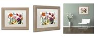 "Trademark Global Color Bakery 'Printemps I' Matted Framed Art - 14"" x 0.5"" x 11"""