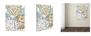 "Trademark Global Color Bakery 'Sea Dahlias II' Canvas Art - 18"" x 2"" x 24"""