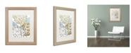 "Trademark Global Color Bakery 'Sea Dahlias II' Matted Framed Art - 16"" x 0.5"" x 20"""