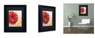 "Trademark Global Color Bakery 'Red Poppy' Matted Framed Art - 11"" x 14"" x 0.5"""