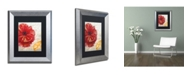 "Trademark Global Color Bakery 'Red Poppy' Matted Framed Art - 11"" x 0.5"" x 14"""