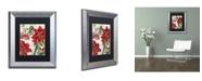 "Trademark Global Color Bakery 'Amaryllis' Matted Framed Art - 11"" x 0.5"" x 14"""