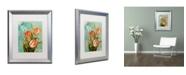 "Trademark Global Color Bakery 'Tulips Ablaze III' Matted Framed Art - 16"" x 0.5"" x 20"""