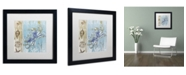 "Trademark Global Color Bakery 'Blue Crab I' Matted Framed Art - 16"" x 16"" x 0.5"""