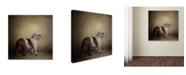 "Trademark Global Jai Johnson 'I Think I Smell A Treat Bulldog' Canvas Art - 35"" x 35"" x 2"""