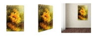 "Trademark Global Jai Johnson 'Impressionist Sunflowers' Canvas Art - 19"" x 12"" x 2"""