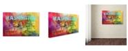 "Trademark Global Jai Johnson 'Sending Love To Washington' Canvas Art - 19"" x 12"" x 2"""