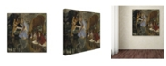 "Trademark Global Degas 'Portrait Of Mlle Fiocre' Canvas Art - 14"" x 14"" x 2"""