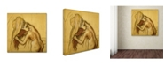 "Trademark Global Degas 'Woman Drying Herself' Canvas Art - 18"" x 18"" x 2"""