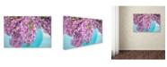 "Trademark Global Cora Niele 'Lilacs In Blue Vase I' Canvas Art - 32"" x 22"" x 2"""